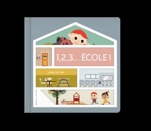 Livre imagier enfant rentrée école 1, 2, 3 École